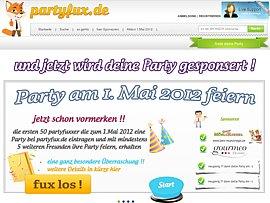 Partyfux -  Partys kostenlos feiern dank Sponsoren