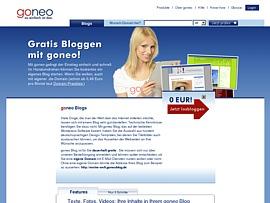 Kostenloses Blog - goneo lädt zum Bloggen ein