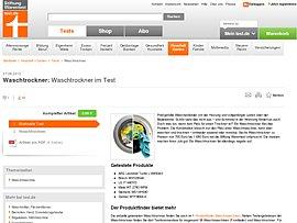 Waschtrockner Im Test Bei Stiftung Warentest