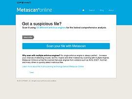 metascan-online bietet mit 44 Virenscannern kostenlos mehr Schutz vor gefährlichen Dateien