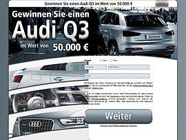 Audi Q3 im Wert von 50.000 Euro gewinnen