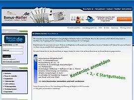 Bonus-Mailer.de - Geld verdienen, mit Bonusaktionen, Gewinnspielen & Co.