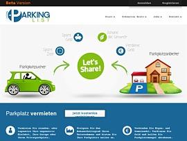 Parkinglist.de bietet Parkplatzsharing - Parkplatz vermieten oder günstig mieten