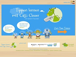 Mit dem Tipptrainer-Calli-clever lernen Kinder spielerisch Tippen