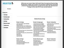 Kostenlose Musterverträge und -briefe, Vorlagen und Formulare zum Download