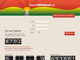 BesserMitfahren.de - Mitfahrgelegenheiten schnell und einfach finden