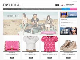 Fashiola - Suchmaschine für Mode inklusive Preisvergleich und Rabatte