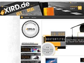 Xird.de bietet jeden Tag neue Deals