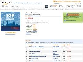 """Amazon Label des Monats """"105 music"""" zum kostenlosen Download"""