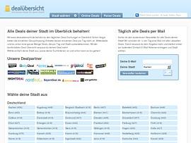 Dealuebersicht.de zeigt alle Deals auf einen Blick