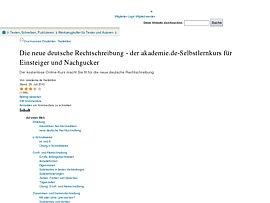 Kostenloser Online-Kurs zur deutschen Rechtschreibung