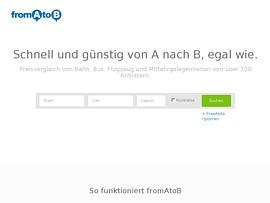 fromAtoB - Preisvergleich von Bahn, Bus, Flugzeug, Mitfahrgelegenheiten und mehr