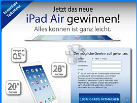 Apple iPad Air gewinnen