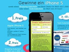iPhone, Shopping Gutschein und Tankkarte gewinnen