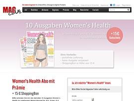 Women's Health Abo mit Prämie + 15 € ShoppingBon