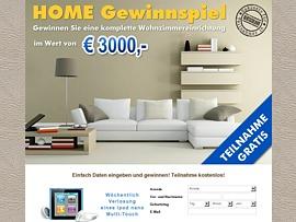 Neue Wohnungseinrichtung kostenlos gewinnen