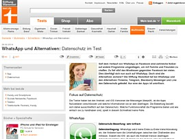 WhatsApp - Stiftung Warentest testet Alternativen zur Messaging-App