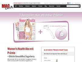 Women's Health plus Gillette Venus&Olaz Sugarberry