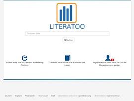 Literatoo bietet kostenloses Booksharing - Bücher leihen und verleihen