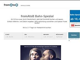 fromAtoB Bahn-Spezial - Für 29 Euro durch Deutschland reisen  fromAtoB Bahn-S...