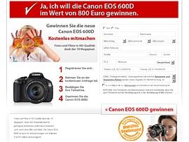 Canon EOS 600D gewinnen