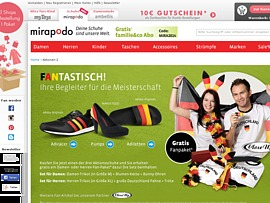 Mirapodo: Fan-Paket gratis zu Bestellung
