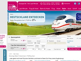 Last Minute Bahntickets ab 17 Euro bei L'Tur