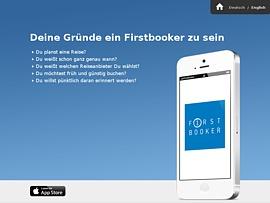 Firstbooker - Kostenlose App hilft, frühzeitig und günstig Reisen zu buchen