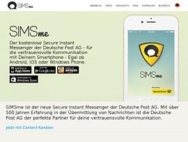 SIMSme - Deutsche Post startet neue kostenlose Messenger-App für iPhone und Smartphone