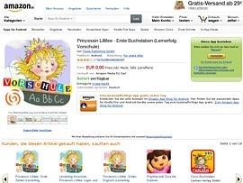 Amazon spendiert App Prinzessin Lillifee - Erste Buchstaben (Lernerfolg Vorschule)