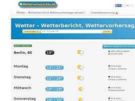 Wettervorausschau.de - Wettervorhersage und Gratis-Wetter Widget für Homepages