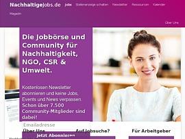NachhaltigeJobs.de - Gezielt nachhaltige Arbeitsplätze suchen
