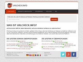UrlCheck.info - Gratis Online-Service warnt vor Malware, Phishing und anderen Gefahren