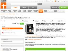 Beste Espressomaschinen im Test bei Stiftung Warentest ...