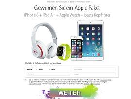 Apple Paket: i-Phone, Pad, Watch und Beats gewinnen