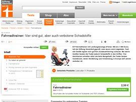 Fahrradtrainer - Die besten Ergometer geprüft von Stiftung Warentest