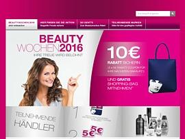 Beautywochen 2016 - Gratis Shopping-Bag und zwei 5 Euro-Rabatt-Gutscheine