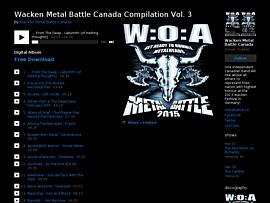 Wacken Metal Battle Kanada - Sampler mit über 80 Tracks zum Gratis-Download