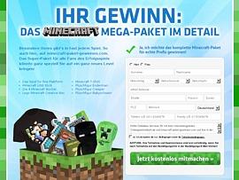 Minecraft-Mega-Paket gewinnen