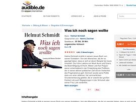 Hörbuch von Helmut Schmidt