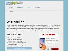 SMS gratis versenden auf SMSkeit.de