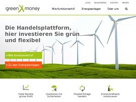 greenXmoney - Investieren in erneuerbare Energien