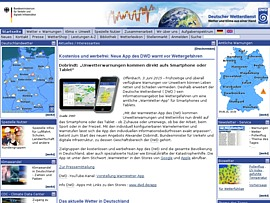 WarnWetter-App vom Deutschen Wetterdienst zum Gratis-Download