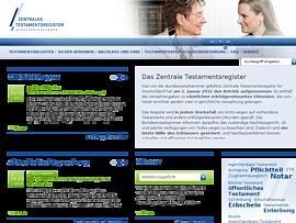 Testamentsregister.de - Zentrales Testamentsregister für Deutschland