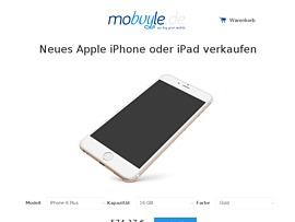 Mobuyle.de - Neues iPhone oder iPad mit Bestpreis-Garantie verkaufen