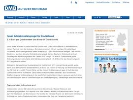 Deutscher Mieterbund legt Betriebskostenspiegel 2014 vor und macht Hoffnung auf Rückzahlungen