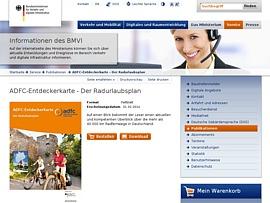 """""""ADFC-Entdeckerkarte - Der Radurlaubsplan"""" gratis beim BMVI bestellen - 40.000 km Radwege in Deutschland"""