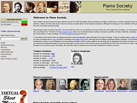 Pianosociety bietet klassische Klavier-Musik zum Gratis-Download