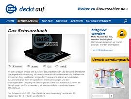"""Schwarzbuch """"Die öffentliche Verschwendung 2015"""" gratis - BdSt zeigt kuriose Fälle"""