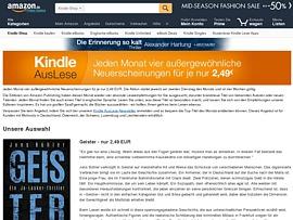 Amazon Kindle AusLese - Jeden Monat vier Neuerscheinungen zum halben Preis